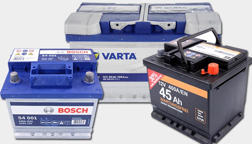 Kennzeichnung von Autobatterien