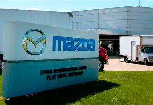 Завод Mazda.
